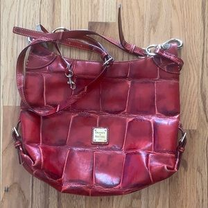Authentic Dooney and Burke red scaled purse